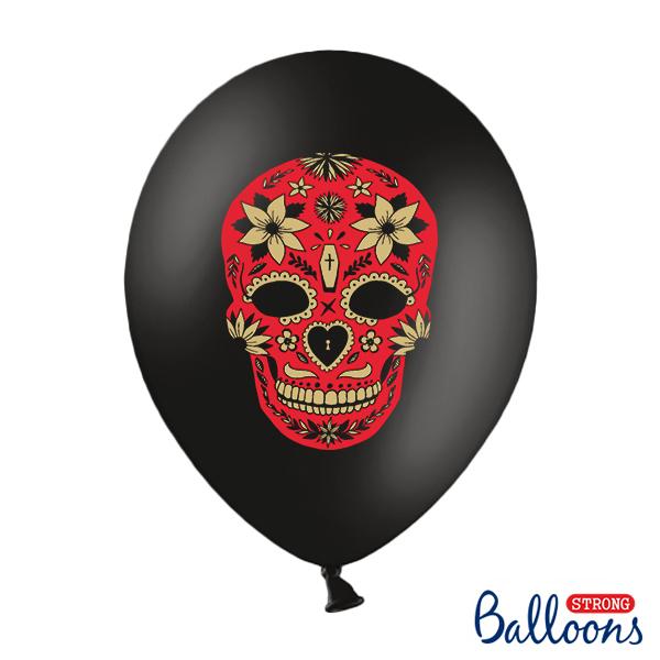 Lufi, fekete, Dia de los Muertos, 5 db / csomag