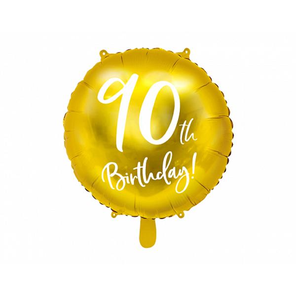 90. Évszámos lufi, fólia, happy b, 18