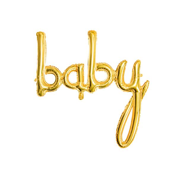 Fólia lufi, arany, baby felirat