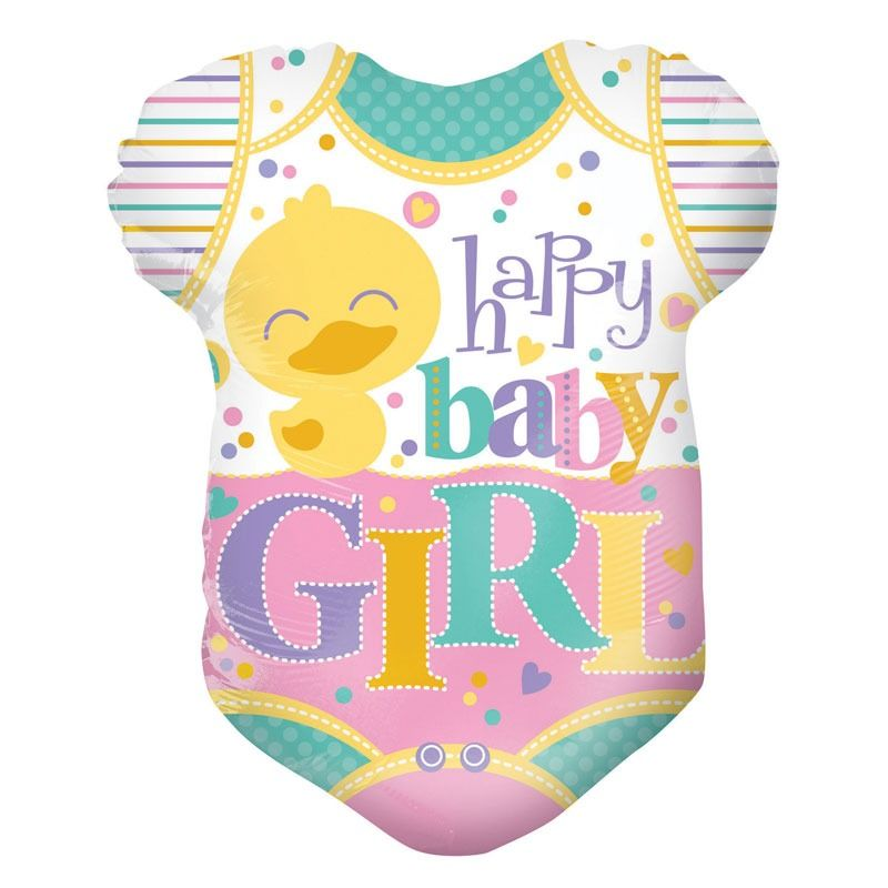 Baby girl ruha forma, fólia lufi, 45cm