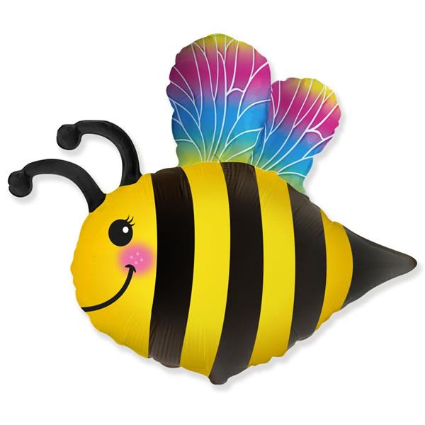 Fólia lufi, nagyforma, boldog méhecske