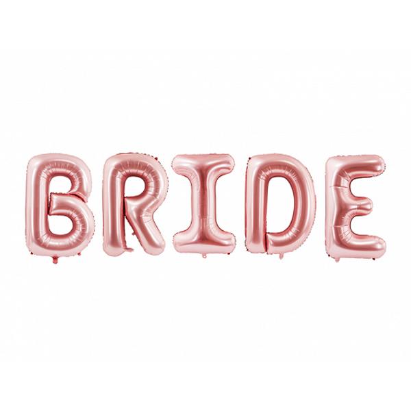 Bride óriás fólia lufi, rose gold, 280x86cm