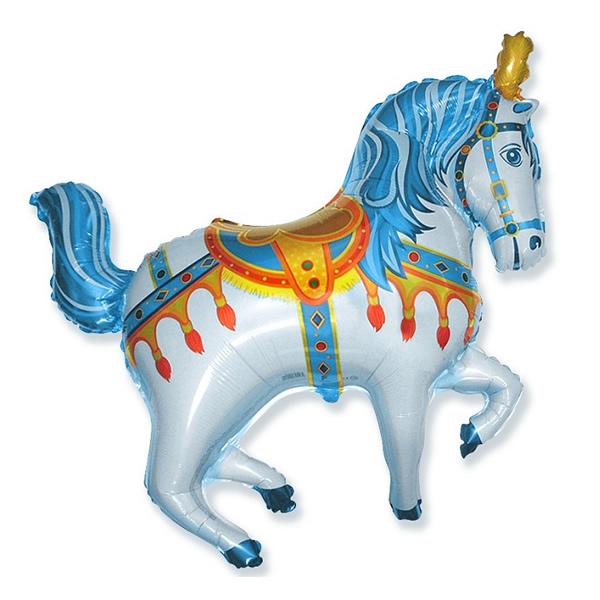 Fólia lufi, nagyforma, cirkuszos ló, kék, 24
