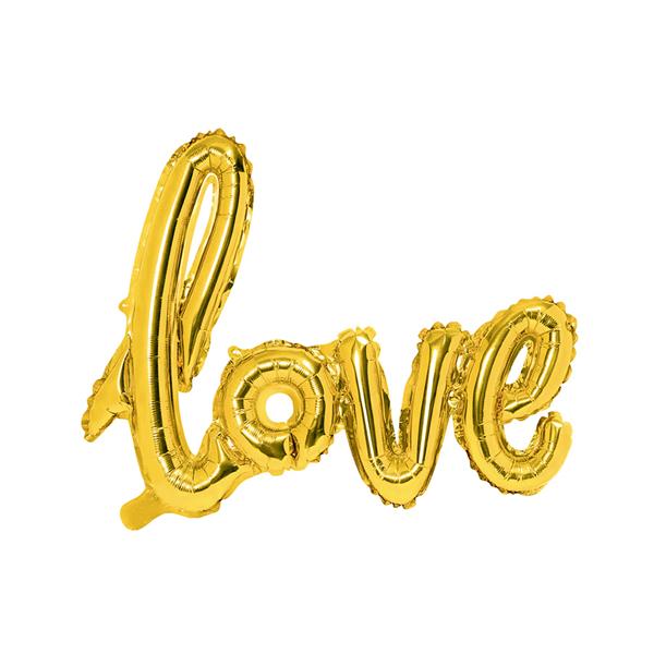 LOVE felirat - arany