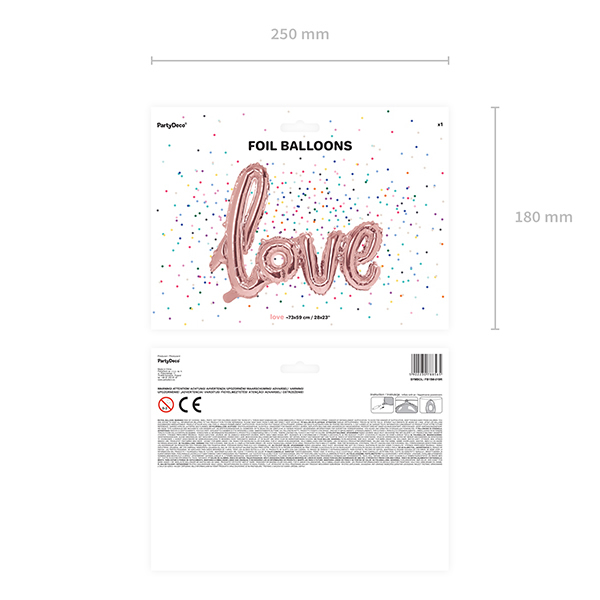 LOVE felirat - rosegold