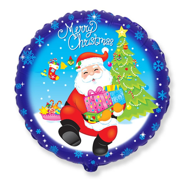 Lufi, fólia, Merry Christmas felirattal, télapós, 18