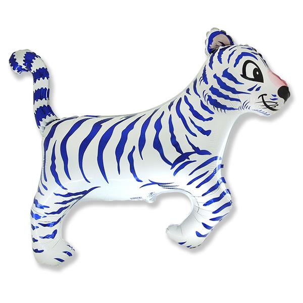 Fólia lufi,  mini forma, tigris, kek, kb. 30-35cm