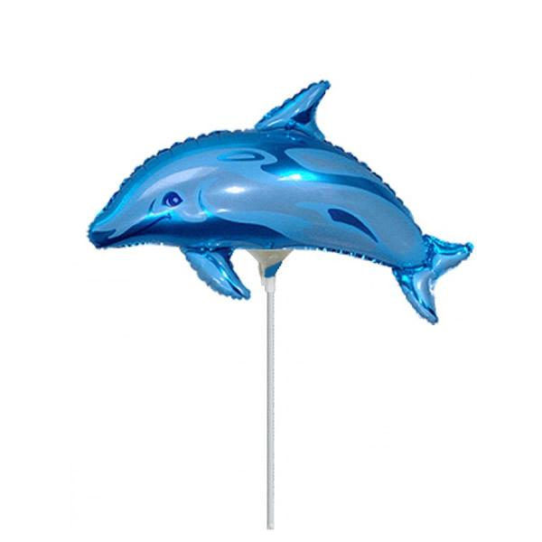 Fólia lufi, mini forma, delfin, kék, 14