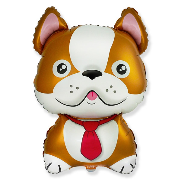 Bulldog fólia lufi, barna, kb. 76 cm