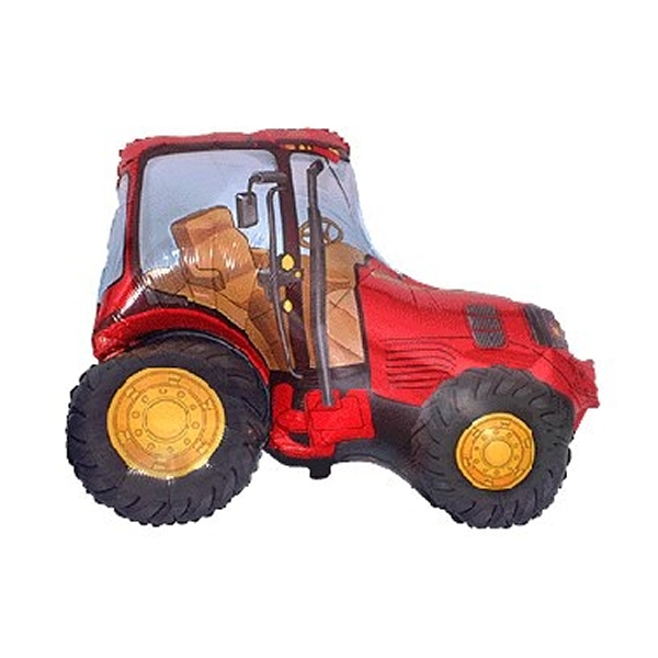 Fólia lufi, nagyforma, piros traktor, 24