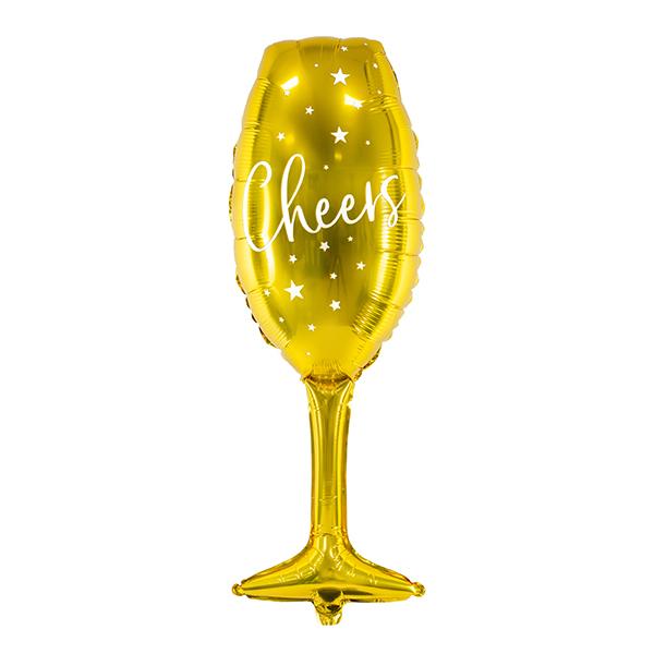 Fólia Lufi, pezsgős pohár, arany, 28X80