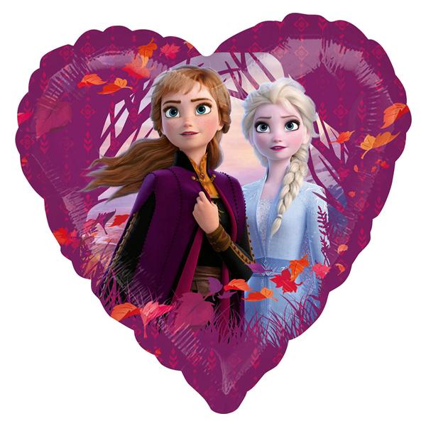 Szív alakú Frozen II fólia lufi, 17