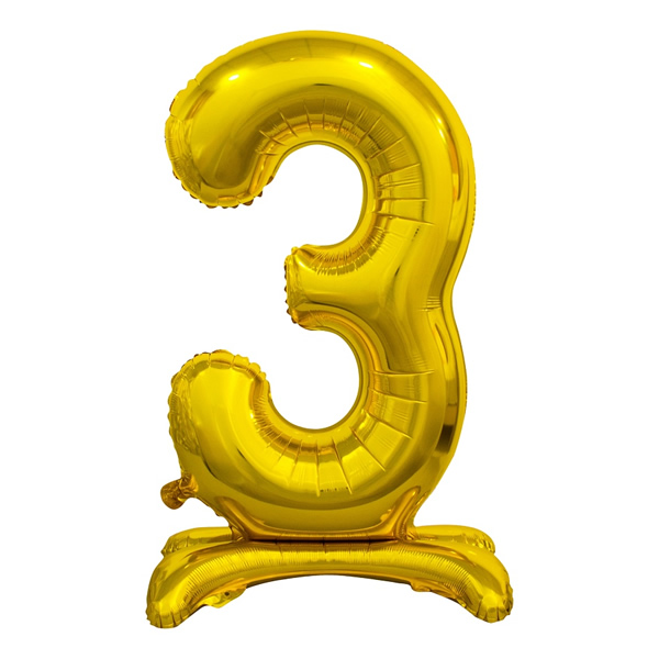 Fólia lufi, 3, talpas, arany, 74cm