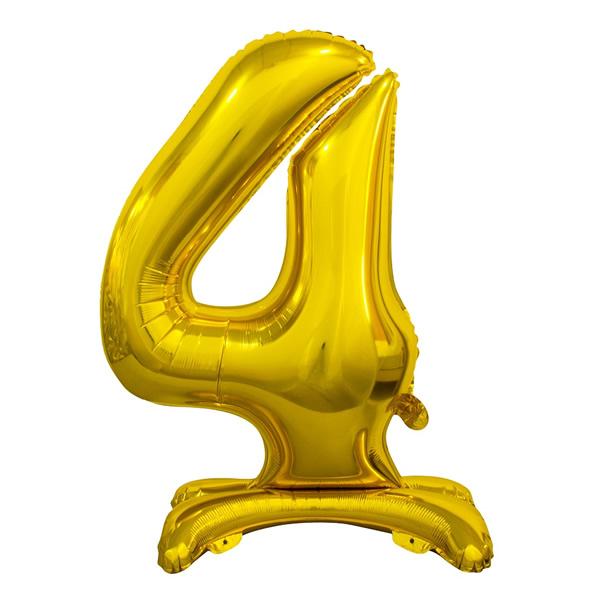 Fólia lufi, 4, talpas, arany, 74cm