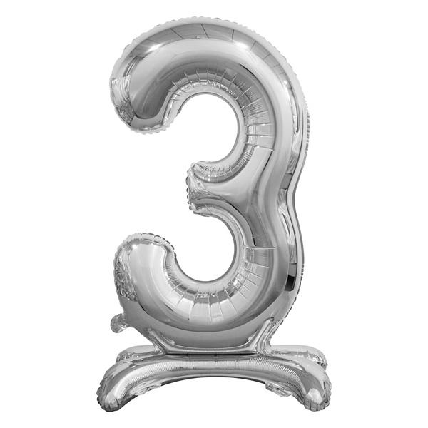 Fólia lufi, 3, talpas, ezüst, 74cm