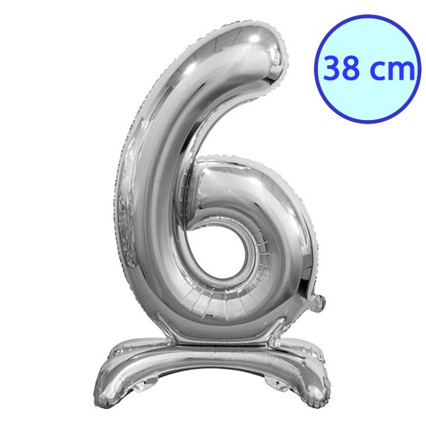 Fólia lufi, 6, talpas, ezüst, 38 cm