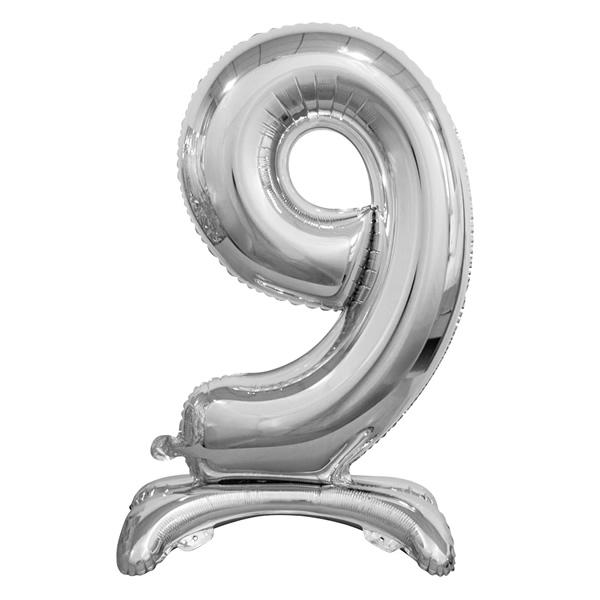 Fólia lufi, 9, talpas, ezüst, 74cm