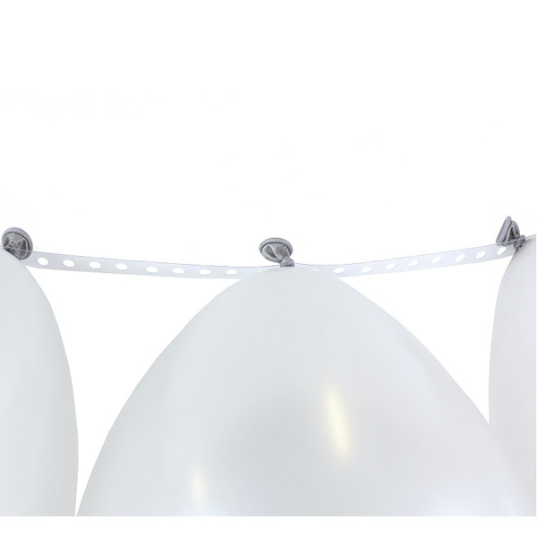 Lufi girland szalag, 5 méter (tejfehér)