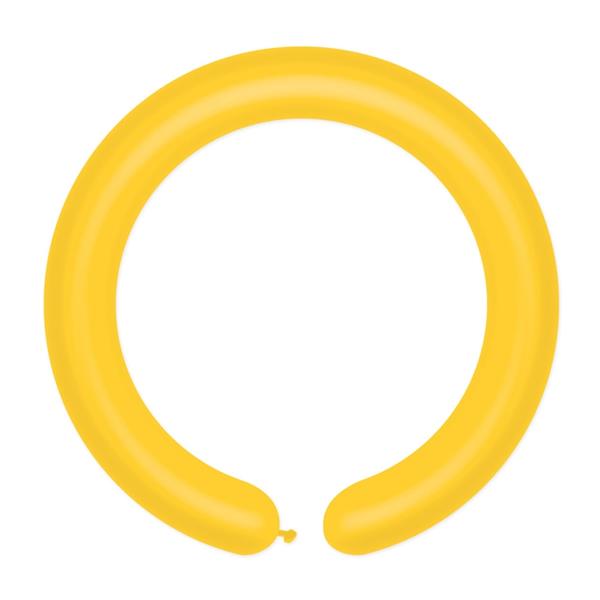 Cső (modellező) lufi, sárga, D2, 100 db/cs