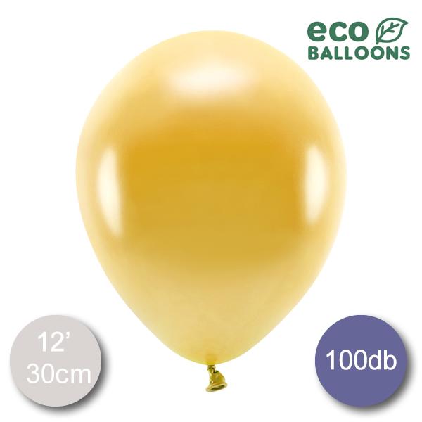 ECO Lufi, metál arany, 30cm, 100 db/cs