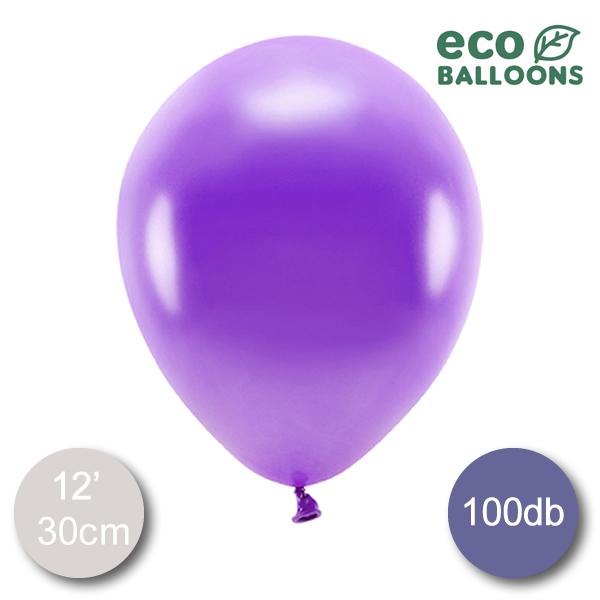 ECO Lufi, metál lila , 30cm, 100 db/cs