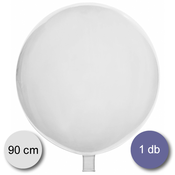 Gömb lufi fehér, 90 cm