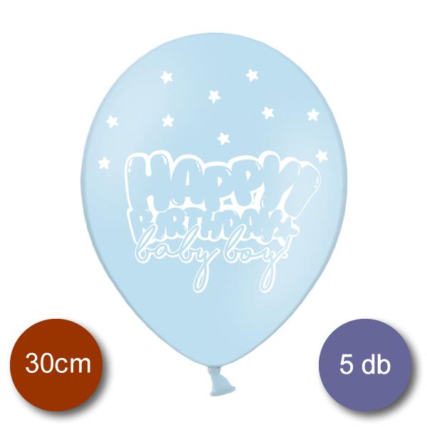 Bébi kék Lufi, HB, Baby Boy, 5 db/cs