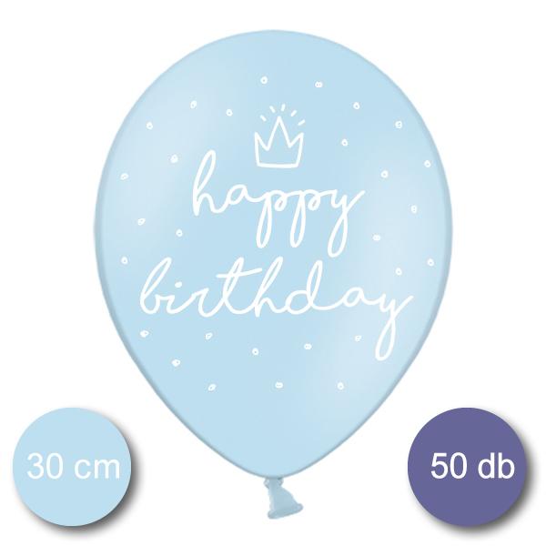 Bébi kék lufi, nagy csomag, HB, 50 db/cs
