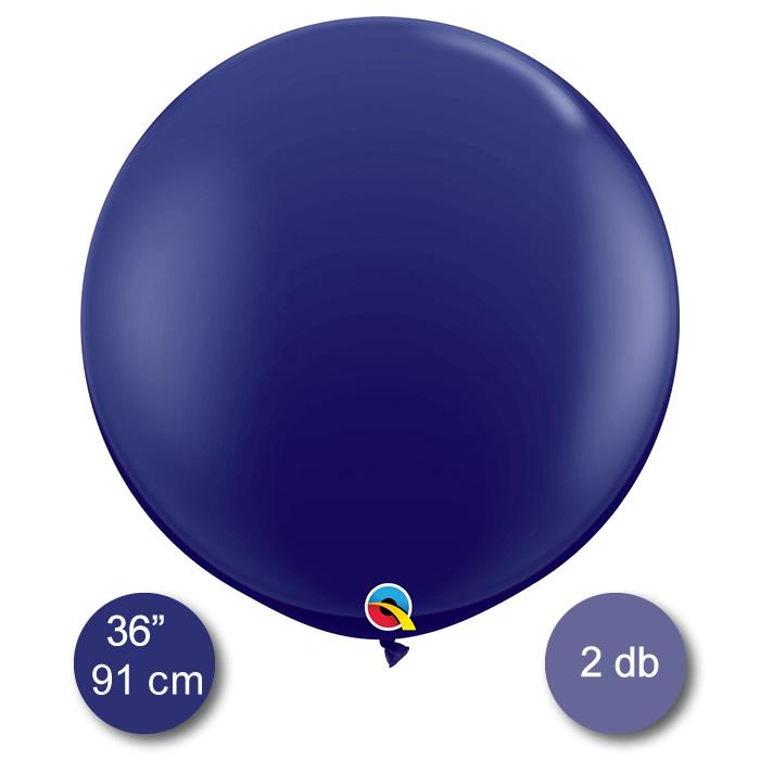 Gömb lufi, sötét ibolya színű, átmérő 91 cm, 2db/cs