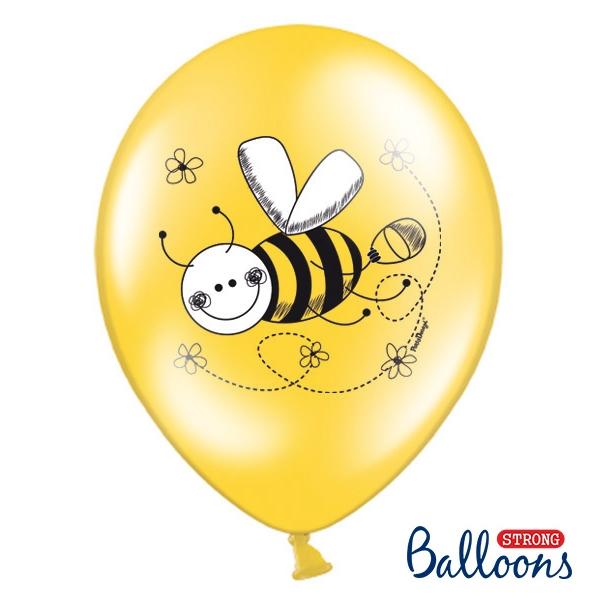 Lufi, méhecskés, sárga-fehér, 5 db/cs