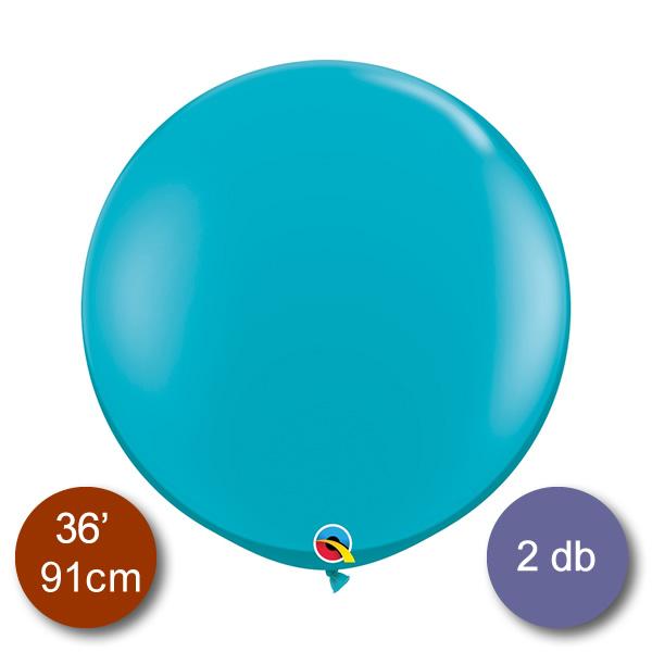 Gömb lufi, türkiz, átmérő 91 cm, 2db/cs