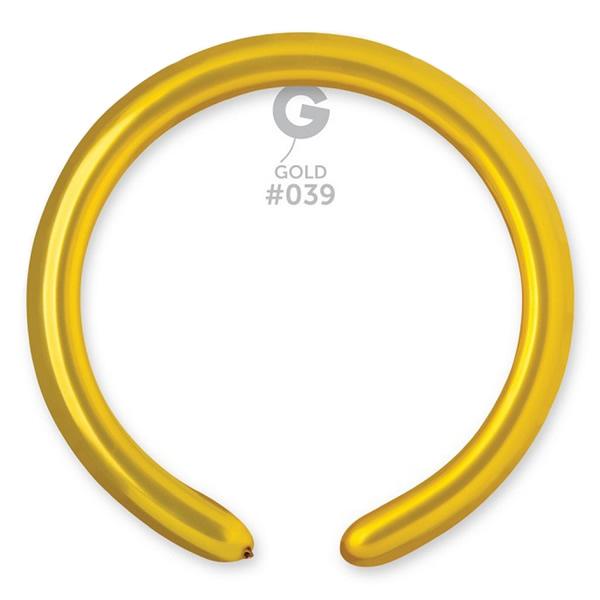 Cső (modellező) lufi, arany, DM4, 100 db/cs