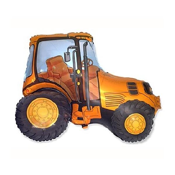 Fólia lufi, nagyforma, narancs traktor, 24