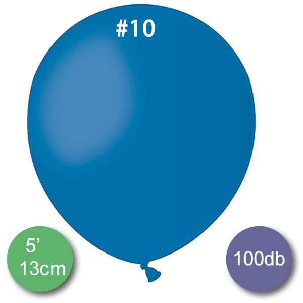 Pasztel,  kék, lufi, 100 db GÖMB, Ø13cm (A50)