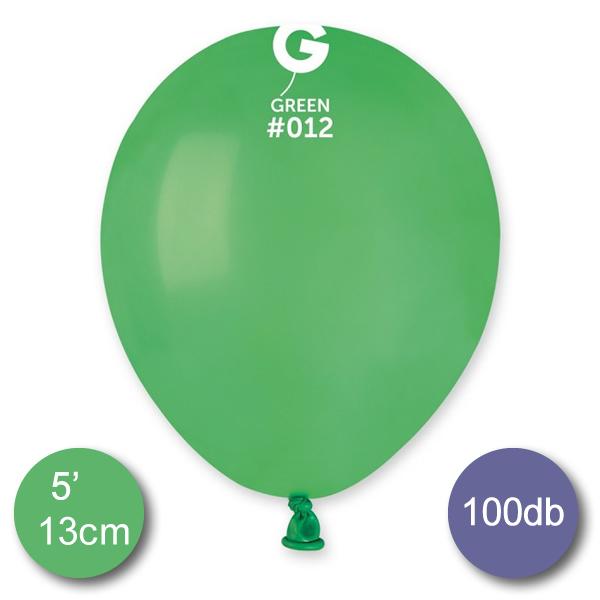 Pasztel,  zöld lufi, 100 db GÖMB, Ø13cm (A50)