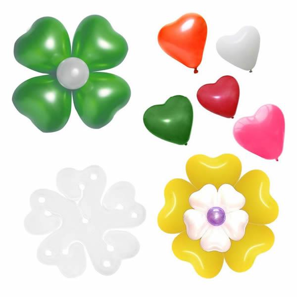 Lufi virág klipsz (dupla lyukas), 10 db/cs
