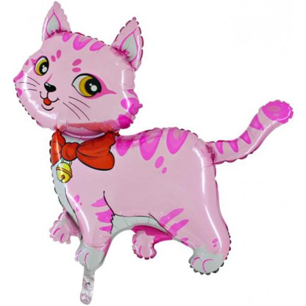Fólia lufi, Mini forma, cica, rózsaszín