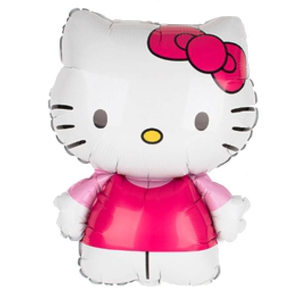 Fólia lufi, mini forma, Hello Kitty, rózsaszín