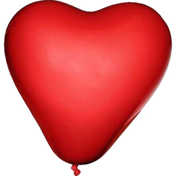 Lufi szív alakú, piros 100 db/cs