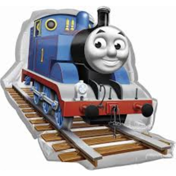 Thomas mozdony, fólia lufi, nagy. 74X69cm