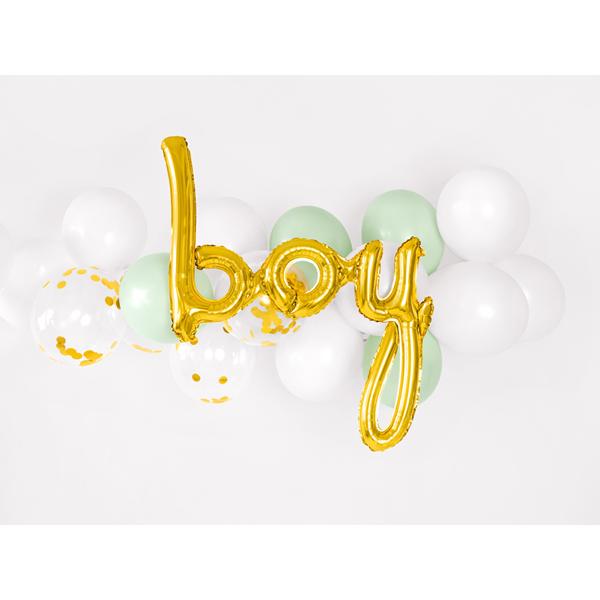 Fólia lufi, arany, boy felirat, 63.5 X 74