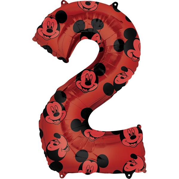 2. szám, fólia lufi, Mickey  Mosue Forever, 66 cm