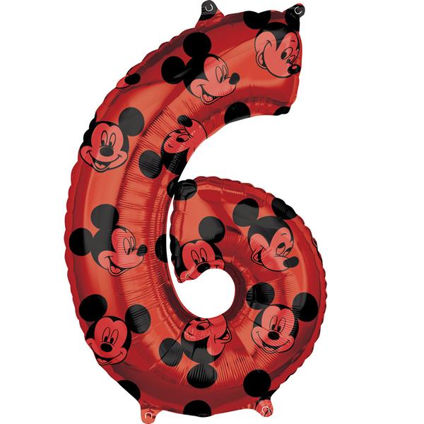 6. szám, fólia lufi, Mickey  Mosue Forever, 66 cm