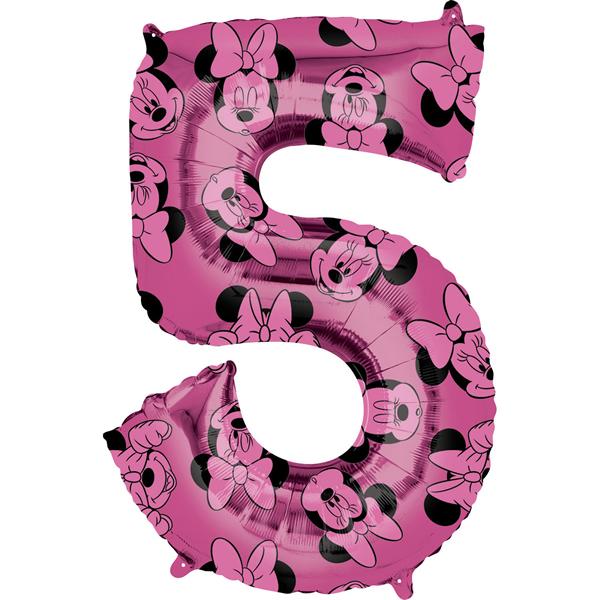 5. szám, fólia lufi, Minnie  Mosue Forever, 66 cm