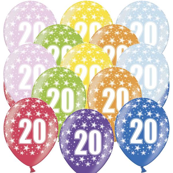 Lufi, nagy csomag, évszámos (20), metál,  50 db/cs/vegyes színekben