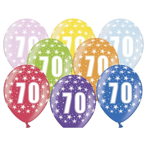 Lufi, évszámos (70), metál, 5 db/cs/vegyes színekben