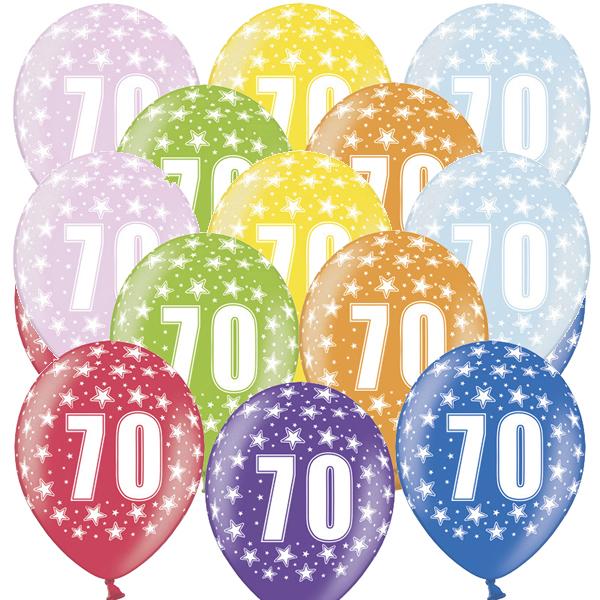 Lufi, nagy csomag, évszámos (70), metál,  50 db/cs/vegyes színekben