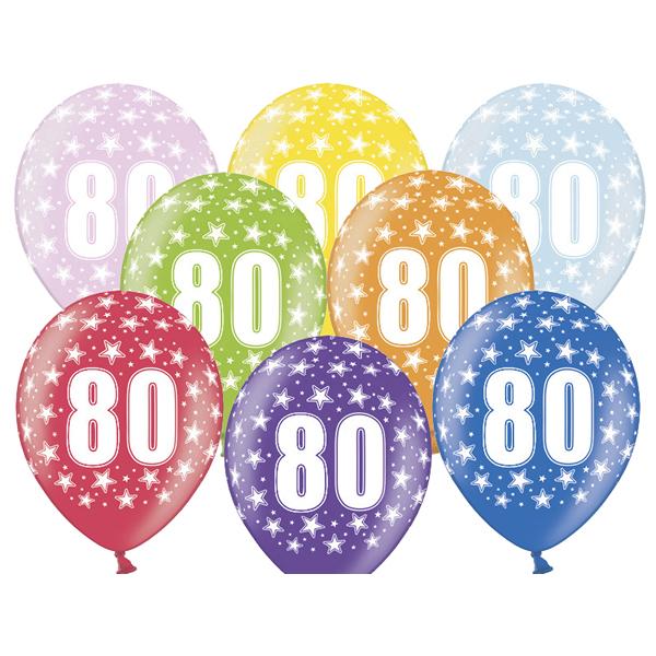 Lufi, évszámos (80), metál, 5 db/cs/vegyes színekben
