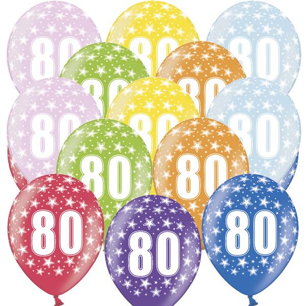 Lufi, nagy csomag, évszámos (80), metál,  50 db/cs/vegyes színekben