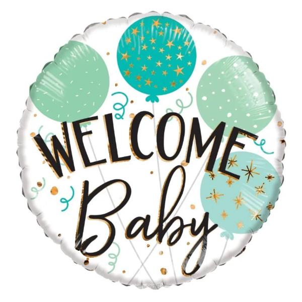 ECO, Fólia léggömb, Welcome baby felirattal, 18